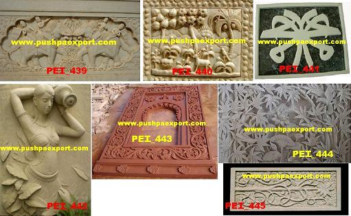 Marble Stone Carving Panel