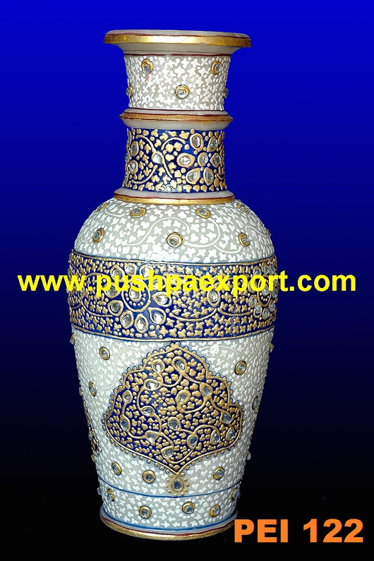 Gold Work Stone Flower Pot