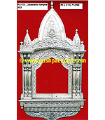 Silver Jharokha Temple Style