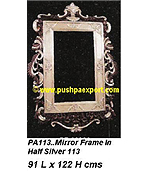 Silver Mirror Frame (Half Silver and Wood Polished)