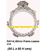 Silver Mirror Frame Leaves