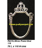 Silver Mirror Frame Oval