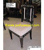 Silver Dinning Chair (Semi Silver with Bone Fittings)