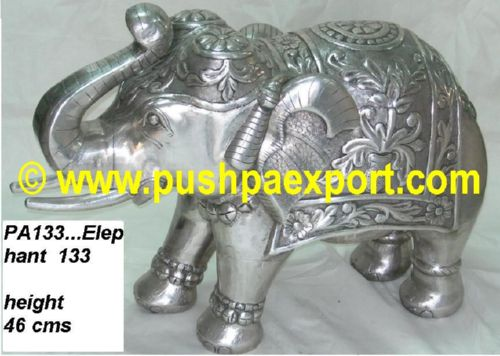 Silver Elephant Pair (Set 2pc)