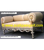 Silver Sofa Two Seater