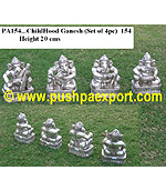 Silver ChildHood Ganesh (Set of 4pcs)