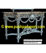 Silver Floral Console