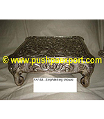 Silver Elephant Leg Chowki-Low table