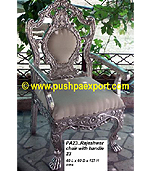 Silver Rajeshwar Chair with Handle