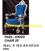 "Silver Kings Chair 52"" (Height)"