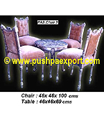Silver Chair (Set of 4 Chairs + 1 Table)