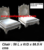 Silver Low Sitting Chair (Set of 2 Chairs)