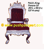 "Silver Kings Throne 54 ""(Height)"