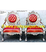Silver Type 3 Victorian (Chairs Set of 3pc)(Set of One pc 3 Seater & Two Single Chairs)
