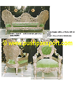 Silver Type 4 Sofa Victorian (Set of 3pc) (Set of One pc 3 Seater & Two Single Chairs)