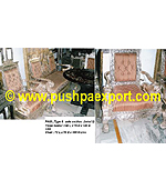 Silver Type 6 Sofa Set Lion (Set of 3pc) (Set of One pc 3 Seater & Two Single Chairs)