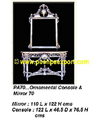 Silver Console & Frame