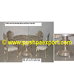 Silver Dinning Table (4pc Chair Set)