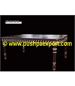 Silver Dinning Table with Silver & Wood Polished (Only Dinning Table)