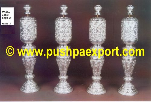Silver Table Legs (Set of 4 Legs)