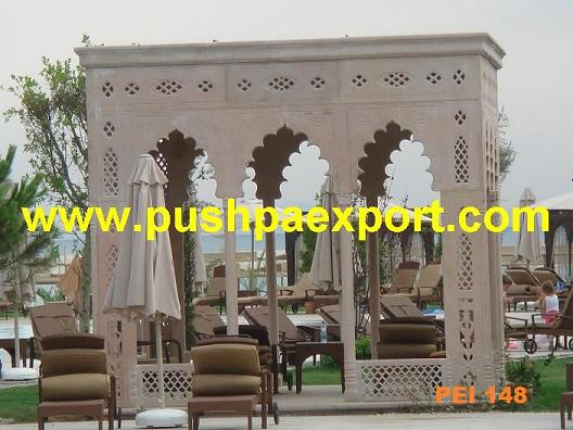 Sandstone Carved Gazebo