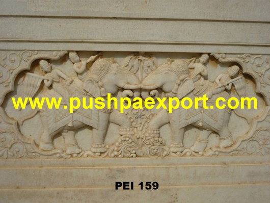 Stone Wall Carved Panel