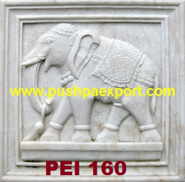 Stone Elephant Carved Panel